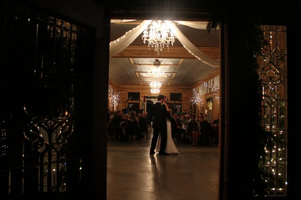 kentucky weddings and receptions on farm - bride and groom dancing