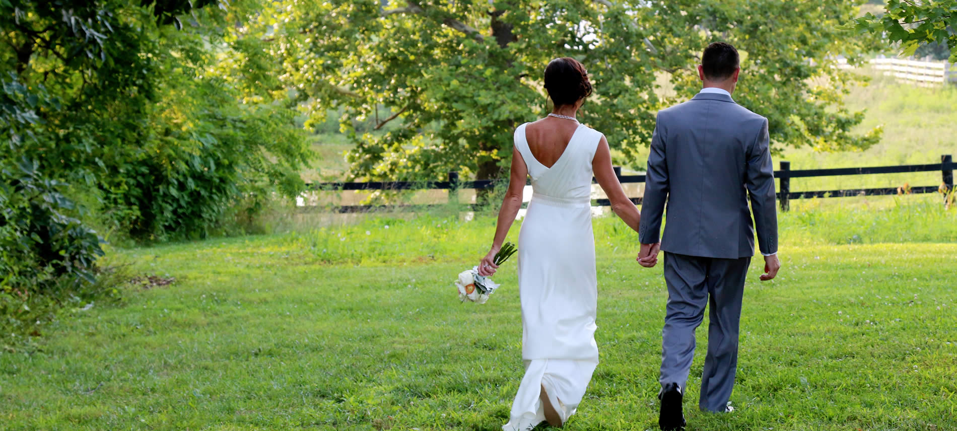 the barn at southern grace weddings and elopements - couple walking