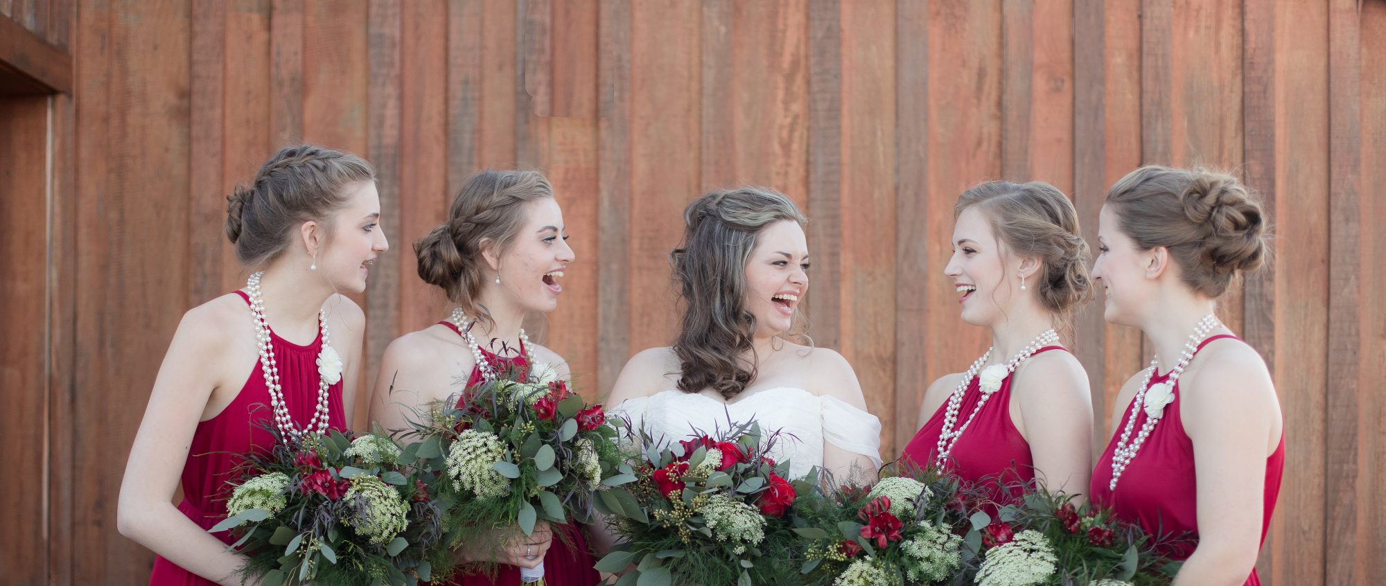 kentucky barn wedding and reception - bride and maids