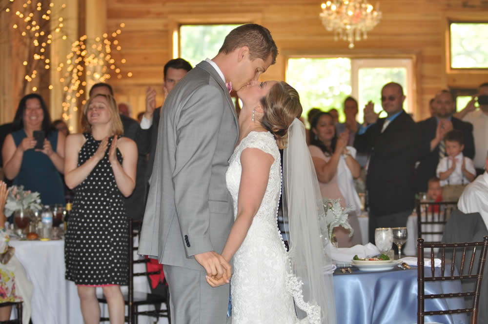 kentucky weddings and receptions on farm - Couple Kissing!