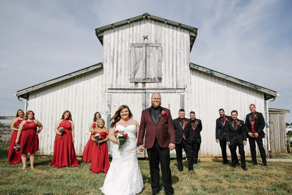 kentucky weddings and receptions on farm - decorated tables